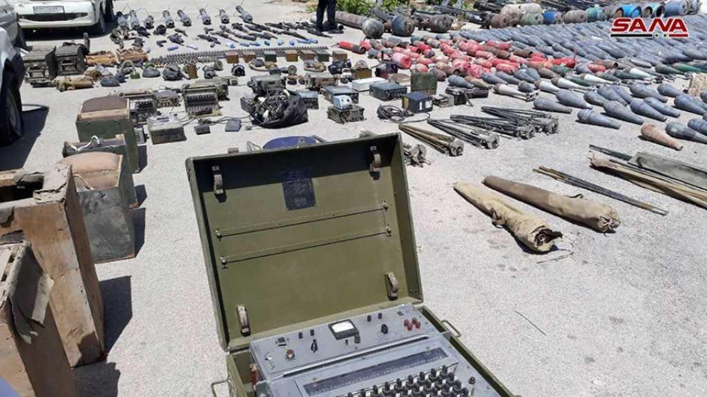 العثور على أسلحة وأجهزة اتصالات جنوبي دمشق
