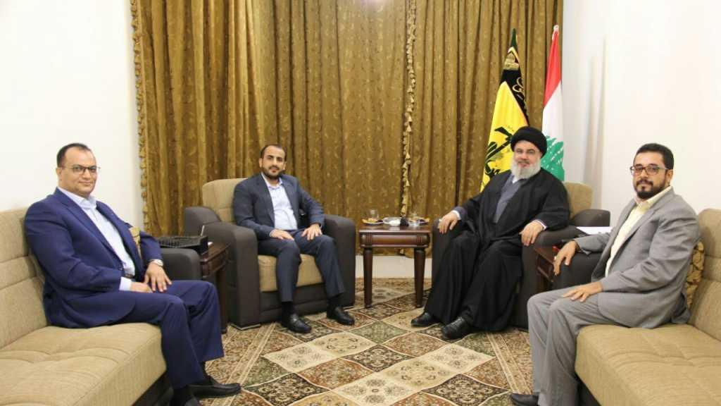 وفد من #أنصارالله يلتقي بالأمين العام لـ #حزب_الله #السيد_حسن_نصرالله