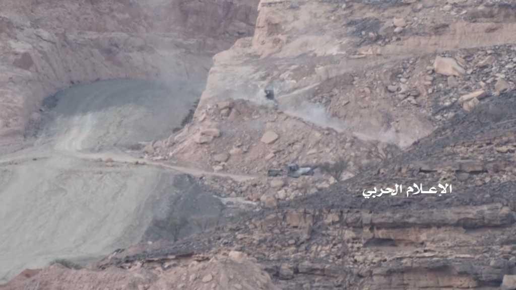 بالفيديو | إعطاب آلية عسكرية سعودية بعملية قنص في #نجران