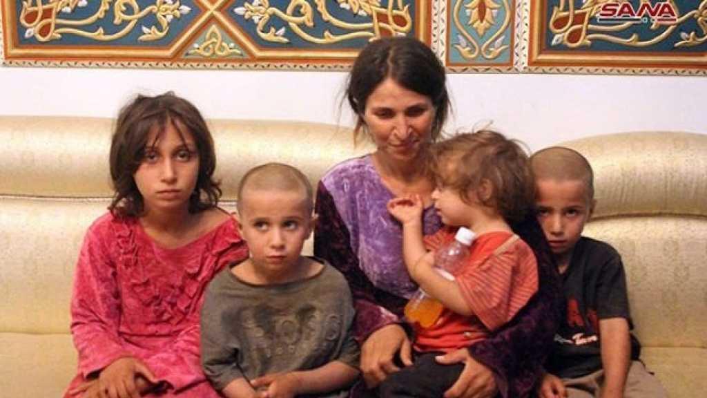 #الجيش_السوري يحرر ستة مدنيين ممن اختطفهم #داعش في #السويداء