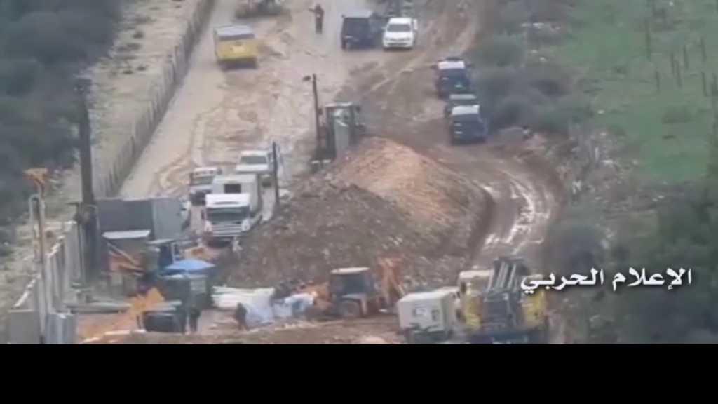 بالفيديو | #العدو_الصهيوني يستكمل أعمال الحفر عند #الحدود_اللبنانية