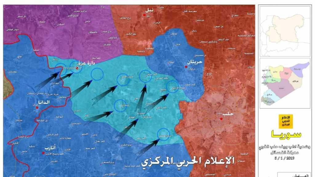 القرى التي سيطرت عليها 'جبهة النصرة' في ريف #حلب الغربي بعد إشتباكات مع حركة 'نور الدين الزنكي'
