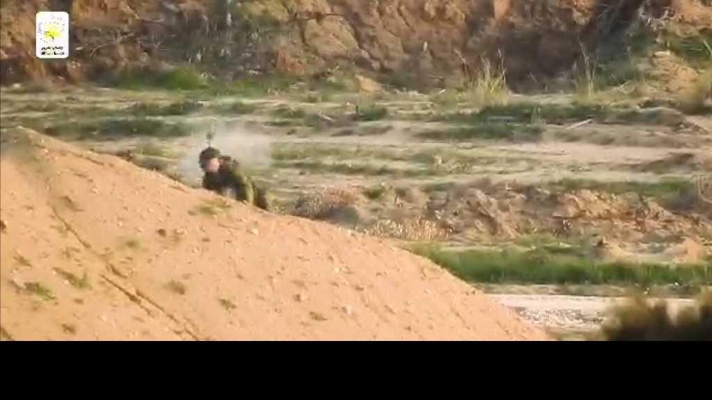 بالفيديو | قنص ضابط صهيوني عند حدود #قطاع_غزة