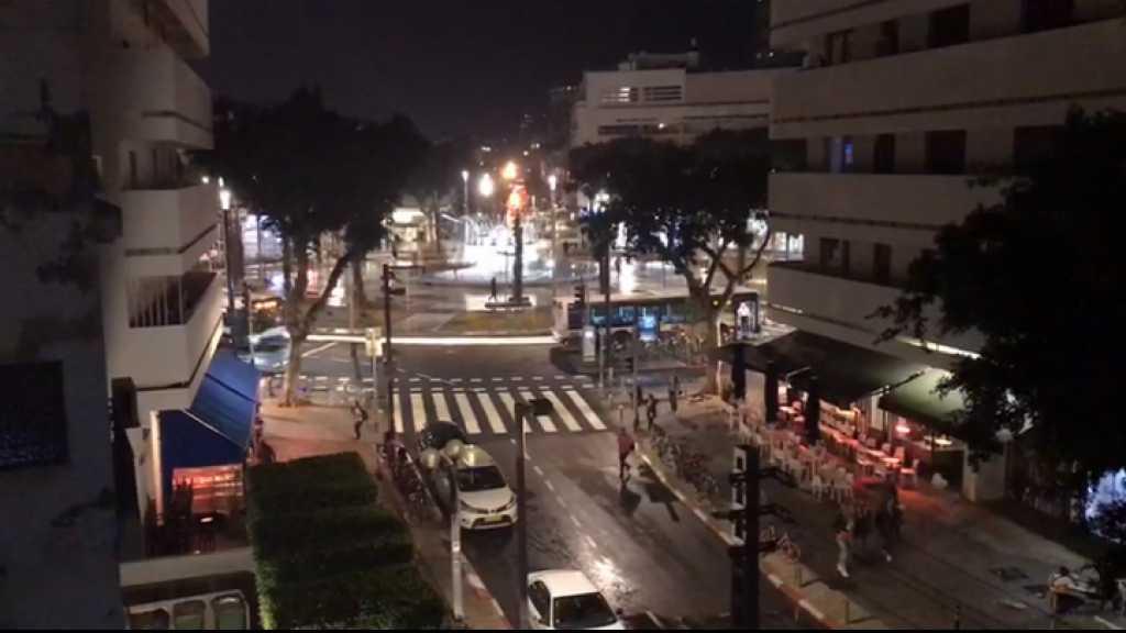 بالفيديو | صافرات الإنذار تدوي في تل أبيب