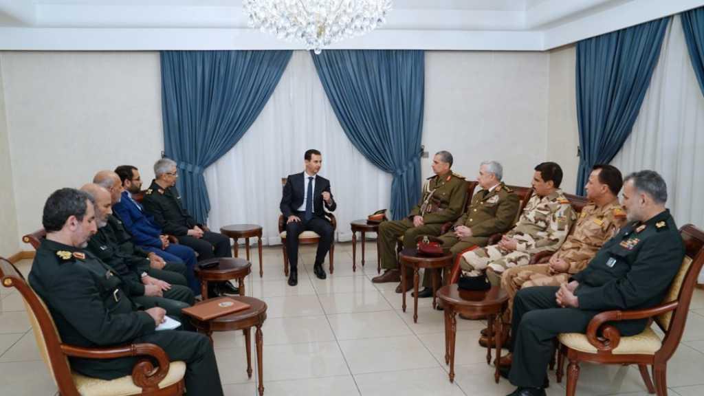 وفد عسكري إيراني عراقي مشترك يزور الرئيس #الأسد