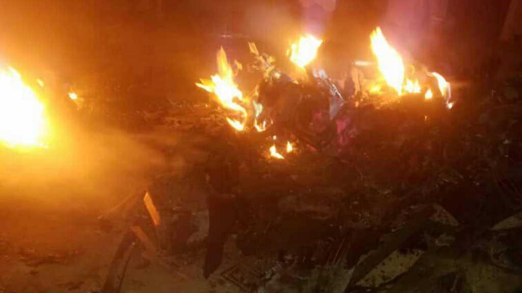 بالفيديو | حطام الطائرة التجسسية الأمريكية MQ1 التي أسقطها الجيش اليمني واللجان الشعبية