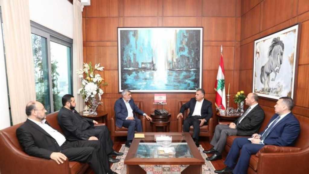 وفد قيادي من حماس يلتقي الرئيسان بري والحريري واللواء ابراهيم في بيروت