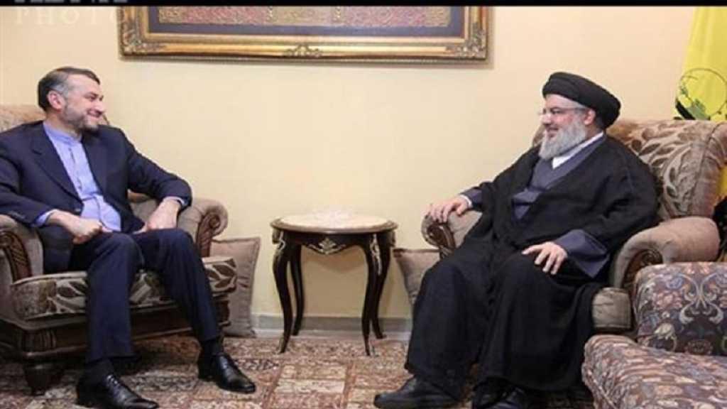 السيد نصر الله يلتقي عبد اللهيان .. المقاومة الخيار الأوحد لمواجهة جرائم الصهاينة