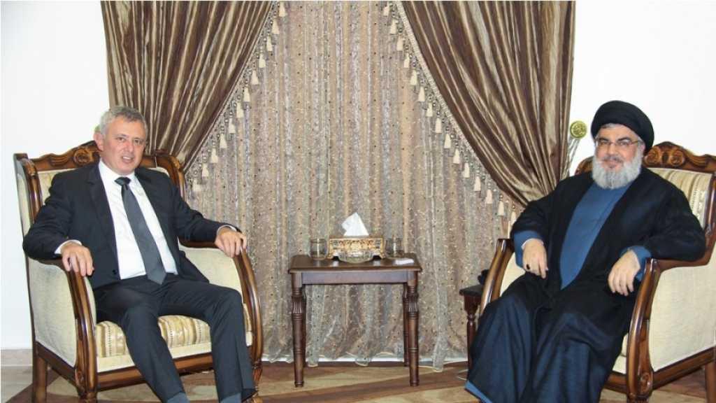 الأمين العام لحزب الله السيد ورئيس تيار المردة اللبناني يبحثان الأوضاع في سوريا