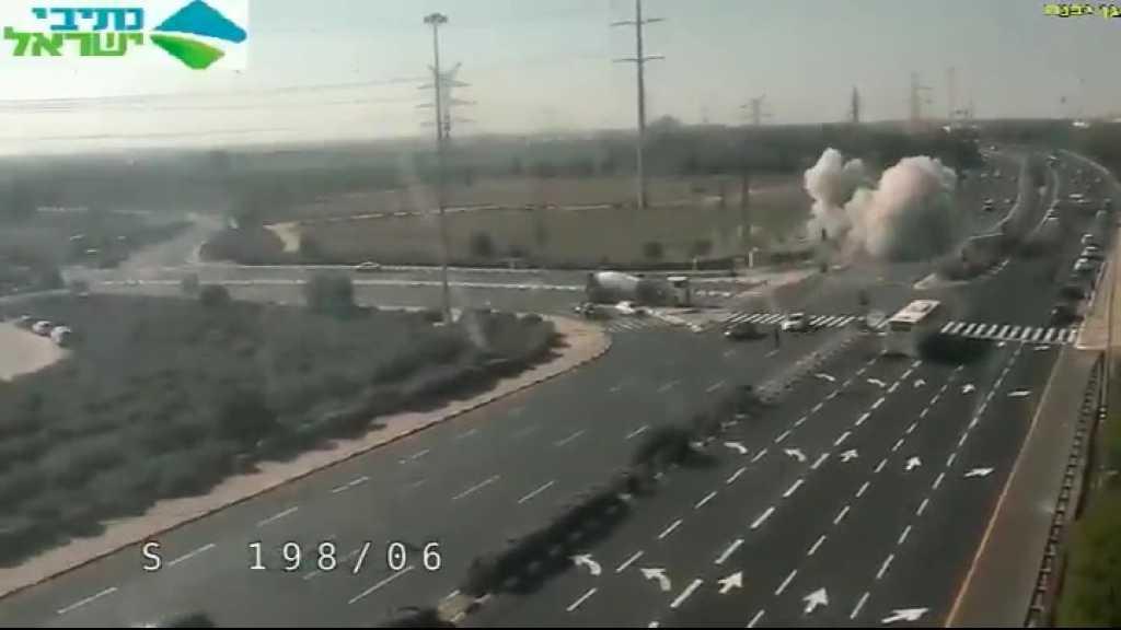 لحظة سقوط أحد صواريخ المقاومة جنوب 'أسدود'