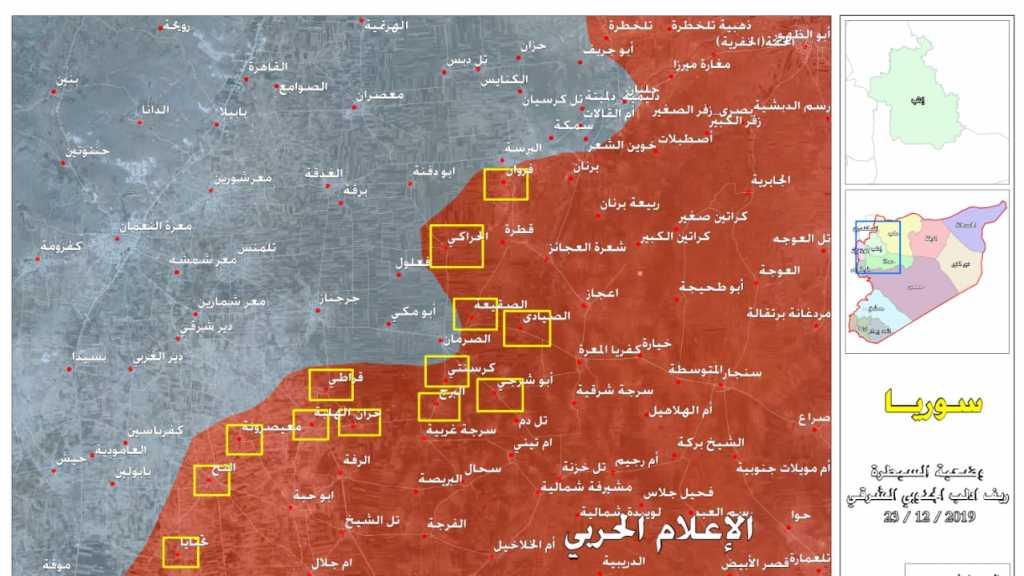 وضعية انتشار الجيش السوري في ريف ادلب