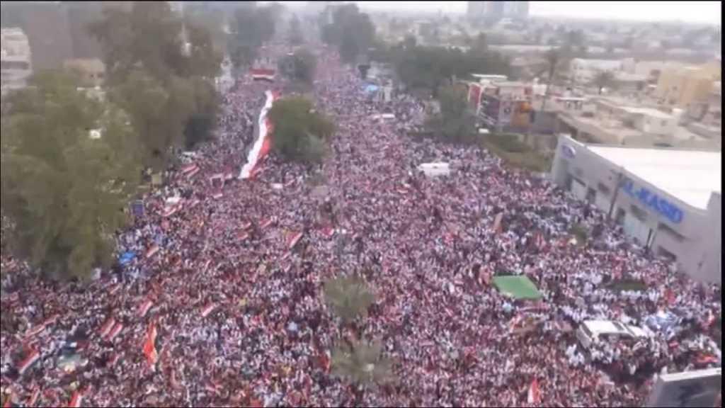 بالفيديو | انطلاق التظاهرة المليونية في العراق رفضاً للوجود الأميركي