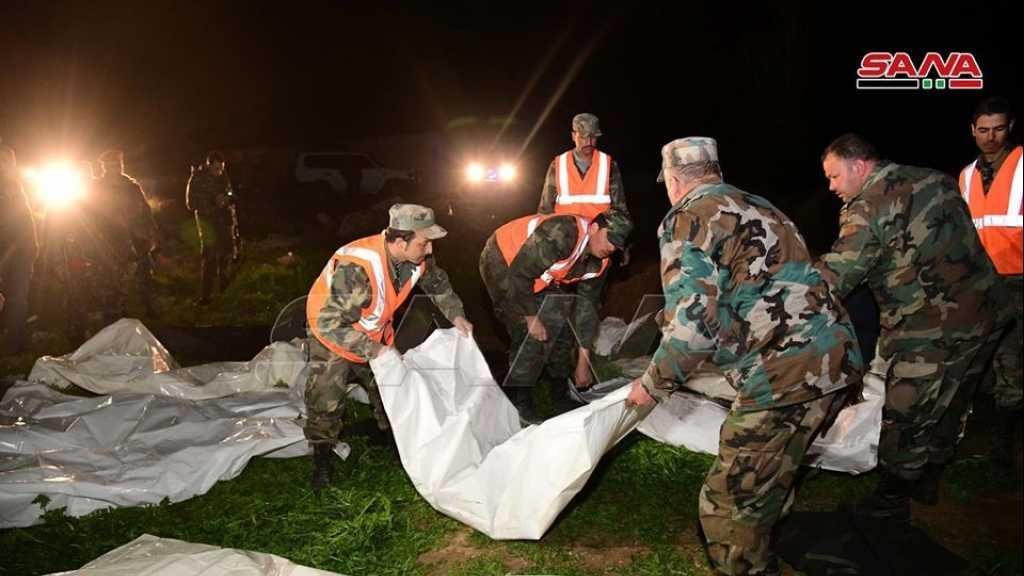 العثور على مقبرة جماعية تضم جثامين عدد من الشهداء أعدمهم الإرهابيون في مزارع العب في الغوطة الشرقية