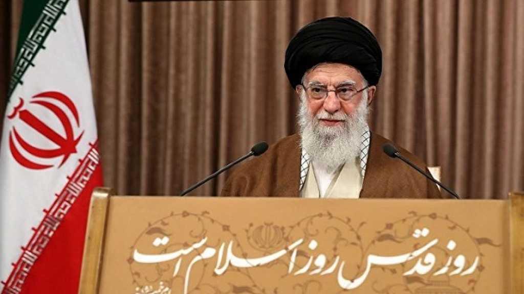 قائد الثورة يؤكد على مواصلة النضال من اجل فلسطين والتصدي للتطبيع مع كيان الاحتلال الصهيوني