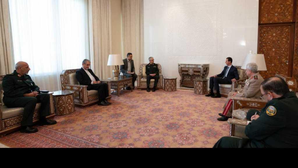 الرئيس الأسد يستقبل رئيس هيئة الأركان العامة للقوات المسلحة الايرانية